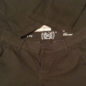 Black low rise Pants.